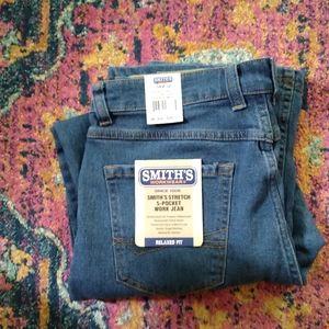 SMITHS NWT Stretch 5 pocket Work jeans.